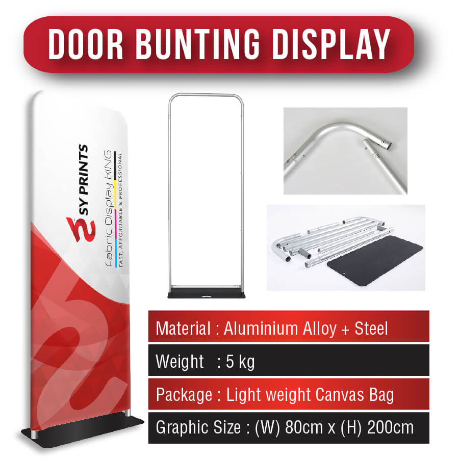 Door Bunting Stand [Fabric Display]