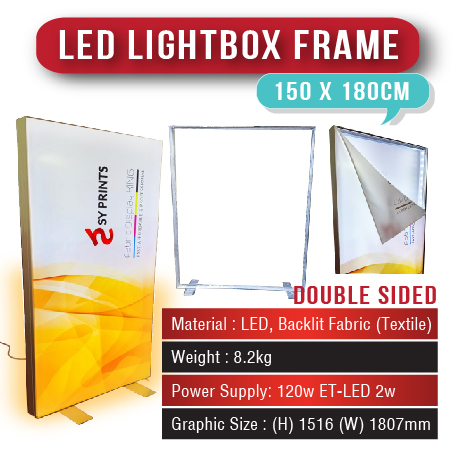 LED Lightbox Frame 150 x 180cm