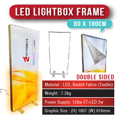 LED Lightbox Frame 80 x 180cm