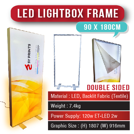 LED Lightbox Frame 90 x 180cm