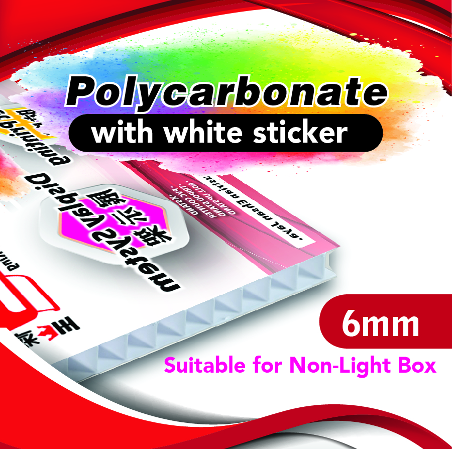 Polycarbon 6MM - WHITE STK