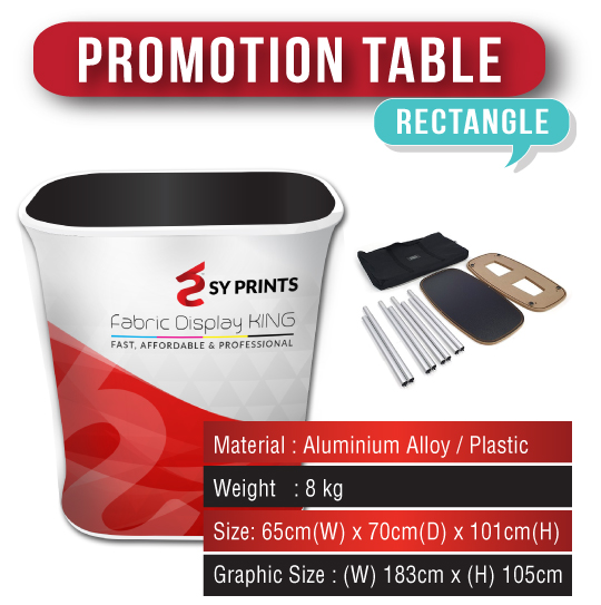 Tension Fabric Promotion Table