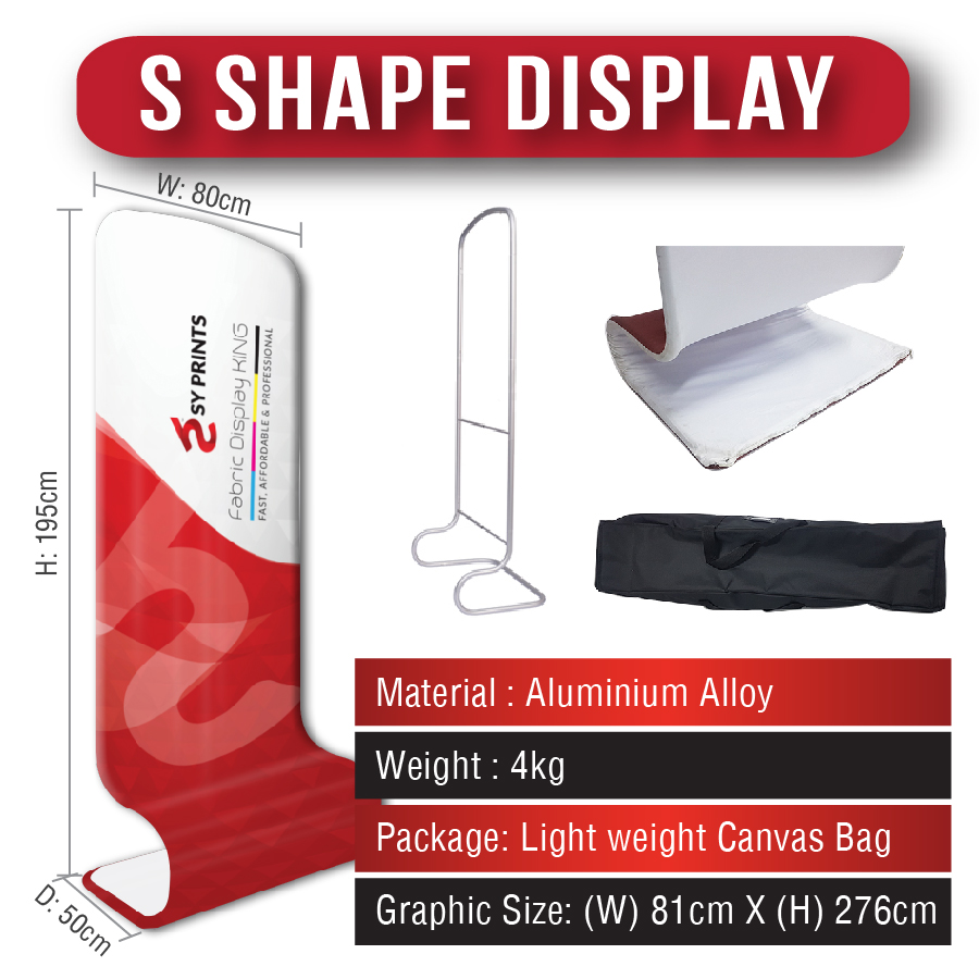 Tension Fabric S Shape Display